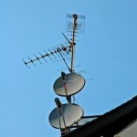Antennen auf dem Dach