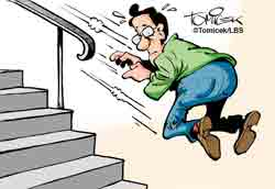 fehlendes Treppengeländer